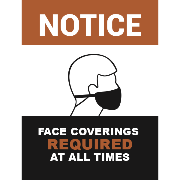 18x24 Notice Face Coverings Required