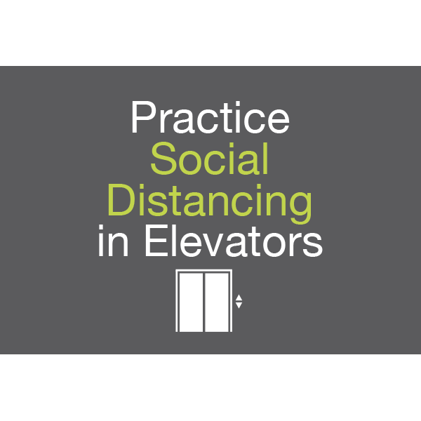 18x12 Practice Social Distancing in Elevators